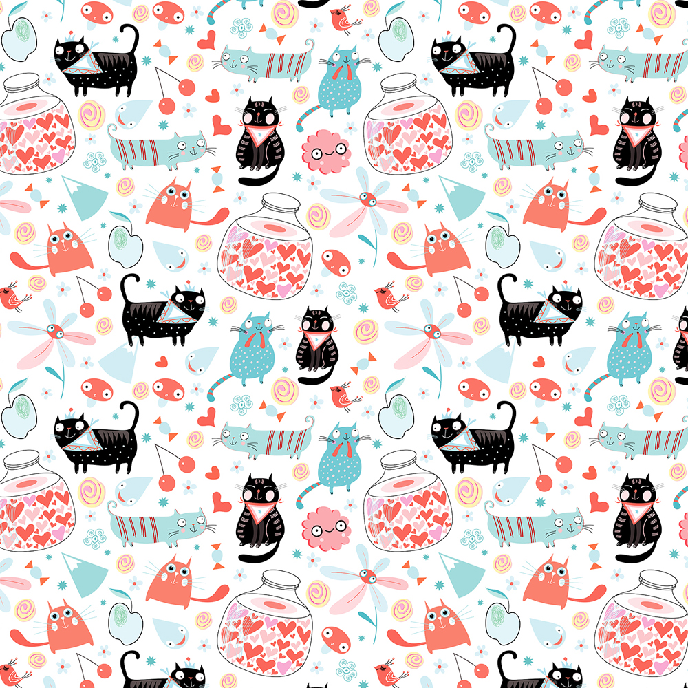 Creative Market 8 Pattern cats